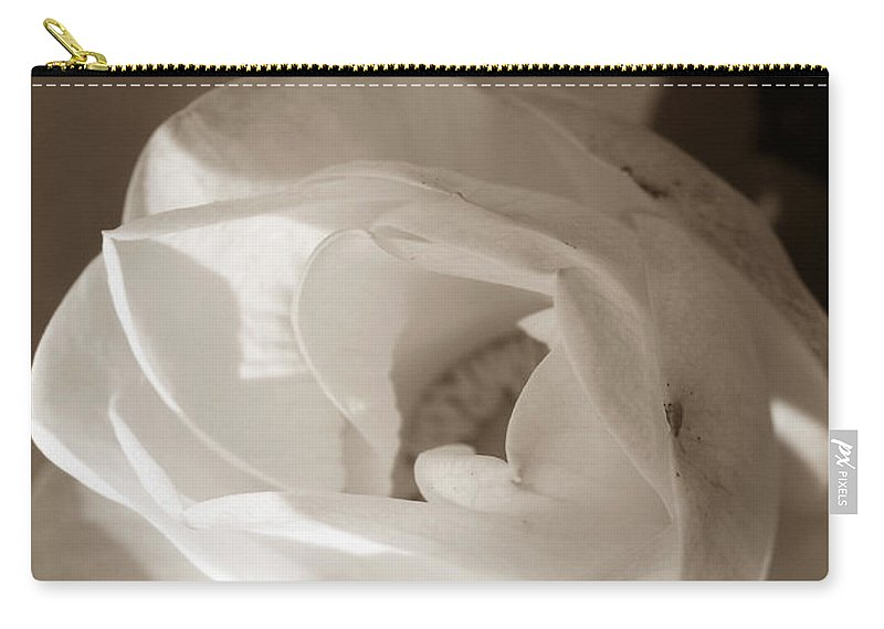 Lotus Carry-all Pouch featuring the photograph Softly by Amanda Barcon
