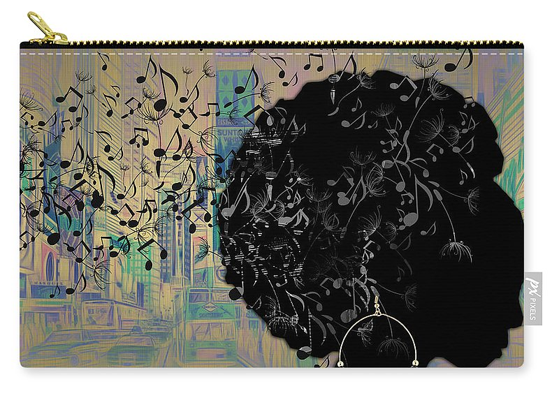 Music Carry-all Pouch featuring the mixed media Sound Of Music Collection by Marvin Blaine