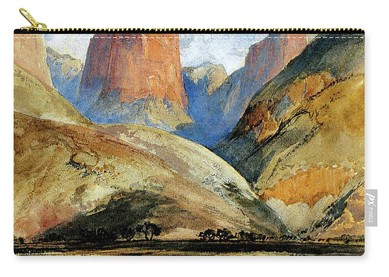 Colburn's Butte Carry-all Pouch featuring the painting South Utah by Thomas Moran