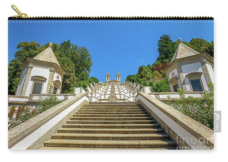 Braga Carry-all Pouch featuring the photograph Staircase Of Bom Jesus Do Monte by Benny Marty