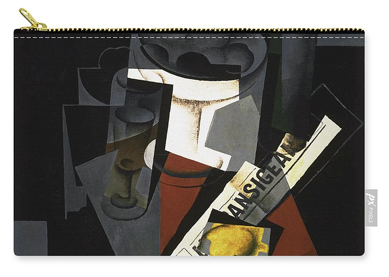 Still Carry-all Pouch featuring the painting Still Life With Newspaper by Juan Gris