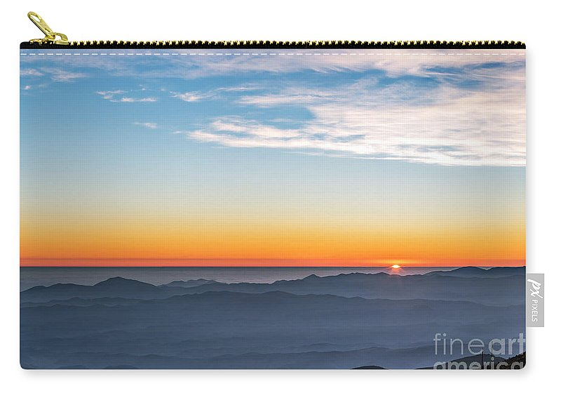Night Carry-all Pouch featuring the photograph Sunset Over The La Silla Observatory by Babak Tafreshi