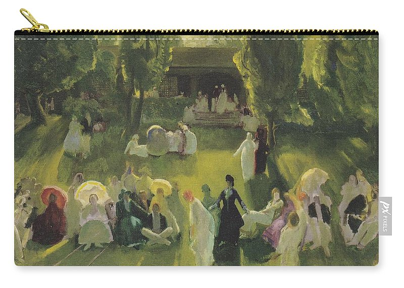 Tennis At Newport Carry-all Pouch featuring the photograph Tennis At Newport by George Bellows