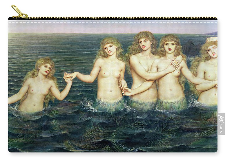 Evelyn De Morgan Carry-all Pouch featuring the painting The Sea Maidens 3 by Evelyn De Morgan