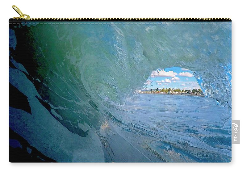 Surf Carry-all Pouch featuring the photograph Venice Surf by Martin Wolfe
