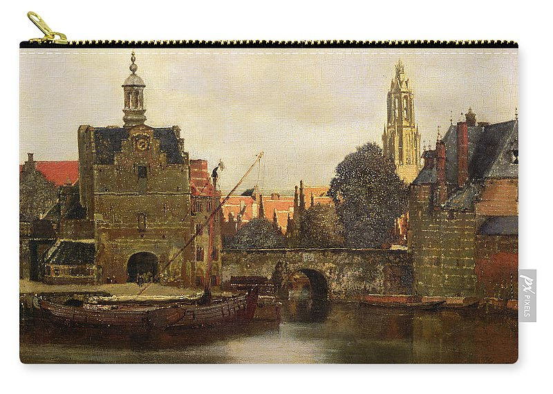 View Of Delft C.1660-61 (oil On Canvas) By Jan Vermeer (1632-75) Carry-all Pouch featuring the painting View Of Delft by Jan Vermeer