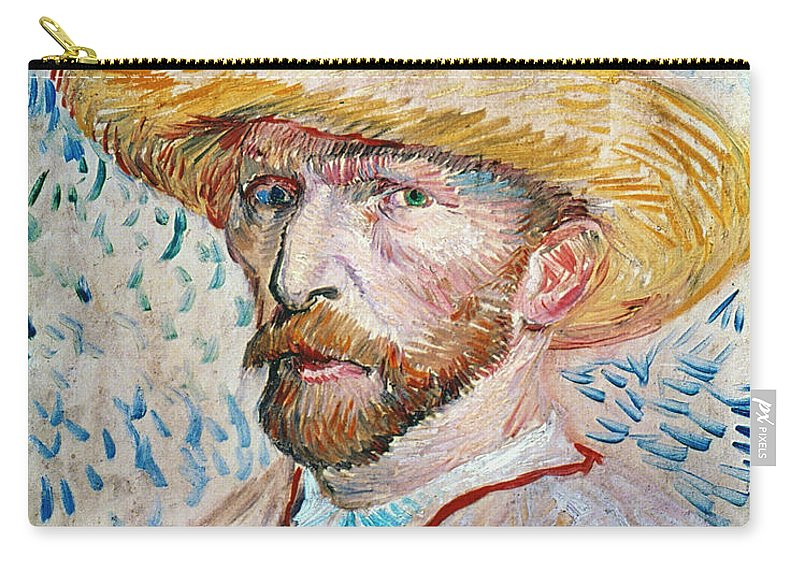 19th Century Carry-all Pouch featuring the photograph Vincent Van Gogh (1853-1890) by Granger