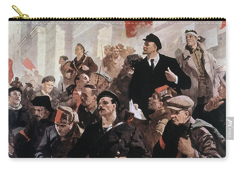 1917 Carry-all Pouch featuring the photograph Vladimir Lenin (1870-1924) by Granger