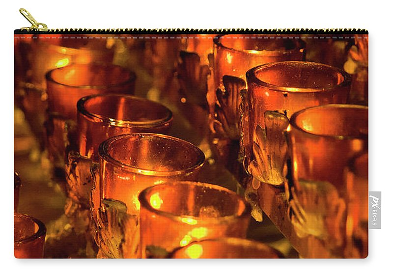 Nyc Carry-all Pouch featuring the photograph Votive Candles. by John Greim