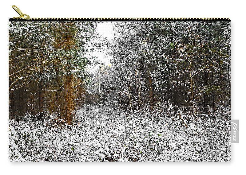Abstract Carry-all Pouch featuring the digital art Winter Time by Svetlana Sewell