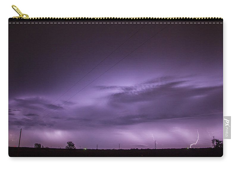 Nebraskasc Carry-all Pouch featuring the photograph 6th Storm Chase 2015 by NebraskaSC