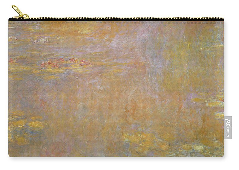 Monet Carry-all Pouch featuring the painting Waterlilies by Claude Monet