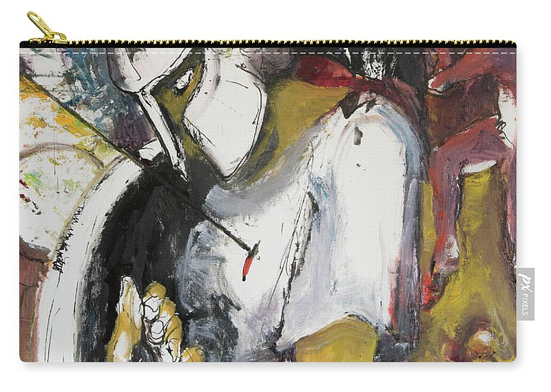 300 Carry-all Pouch featuring the painting 300 Outnumbered by Craig Newland