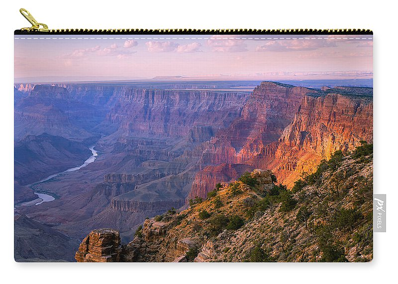 Grand Canyon National Park Carry-all Pouch featuring the photograph Canyon Glow by Mikes Nature