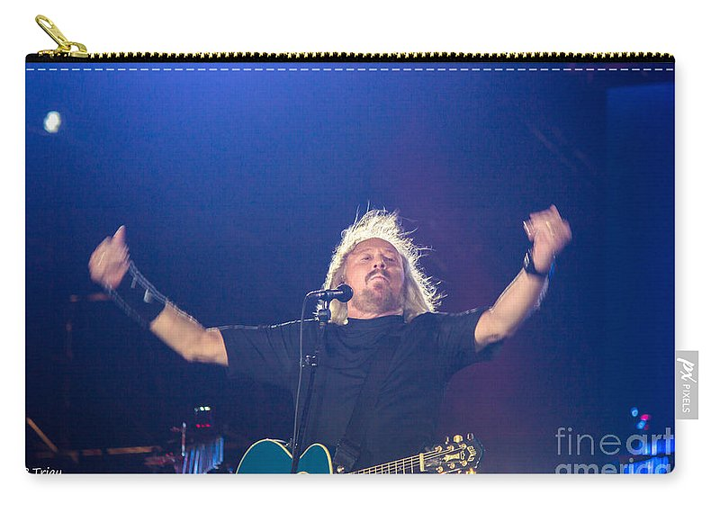 Barry Gibb Carry-all Pouch featuring the photograph Barry Gibb by Rene Triay Photography