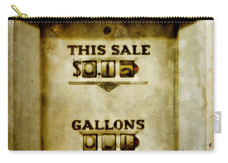 Gas Carry-all Pouch featuring the photograph 31 Cents A Gallon by David and Carol Kelly