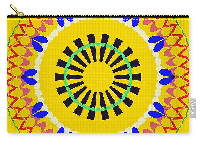 Mandala Carry-all Pouch featuring the digital art Mandala Ornament by Miroslav Nemecek