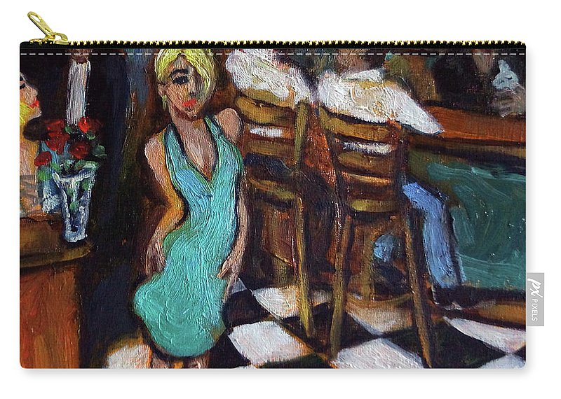 Restaurant Carry-all Pouch featuring the painting 32 East by Valerie Vescovi