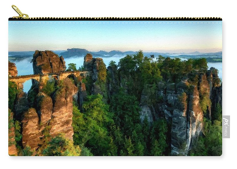 Wall Carry-all Pouch featuring the digital art Landscape Paintings by Usa Map