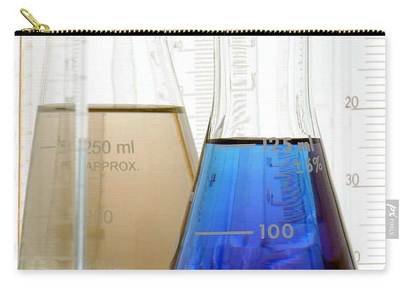 Chemical Carry-all Pouch featuring the photograph Laboratory Equipment In Science Research Lab by Olivier Le Queinec