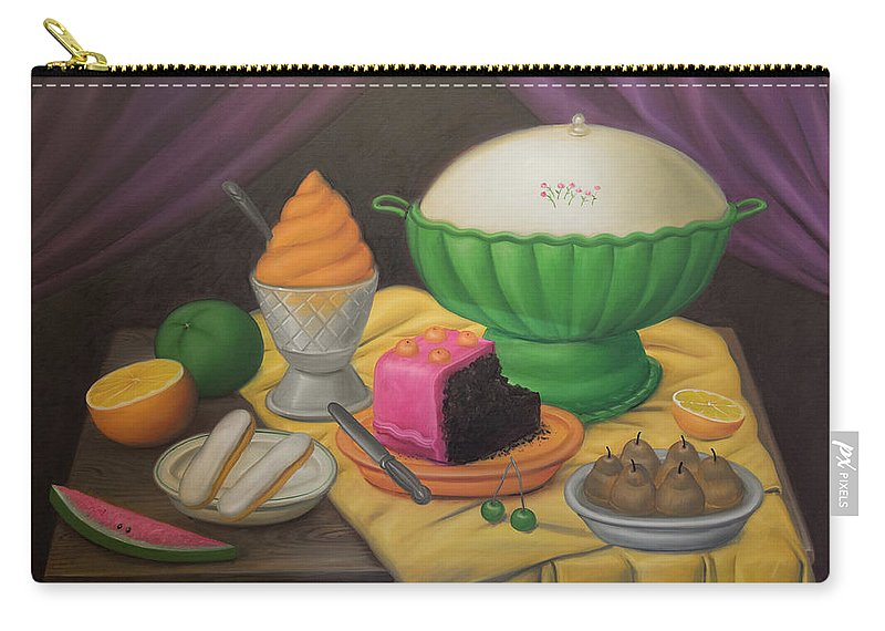 Bogota Carry-all Pouch featuring the digital art Bogota Museo Botero by Carol Ailles