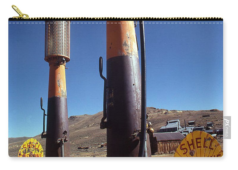 Galifornia Carry-all Pouch featuring the photograph 35-cents-a-gallon by Norman Andrus