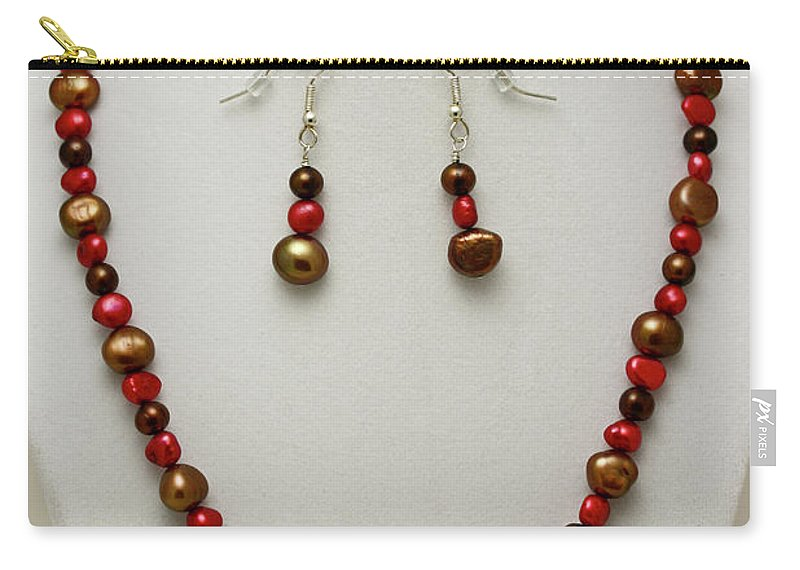 Handmade Carry-all Pouch featuring the jewelry 3536 Freshwater Pearl Necklace And Earring Set by Teresa Mucha