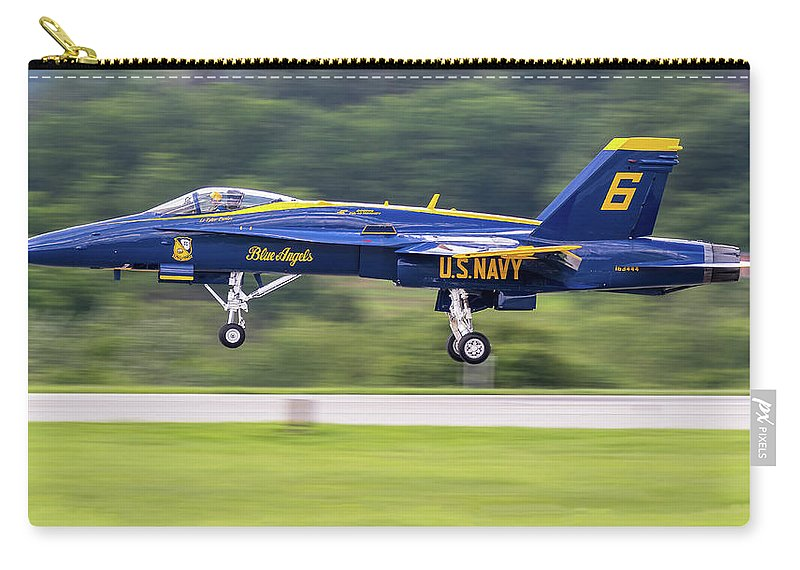 163444/6 (cn0648/c015) Carry-all Pouch featuring the photograph 35,500 Lbs Thrust, No Waiting by Fly By Photography