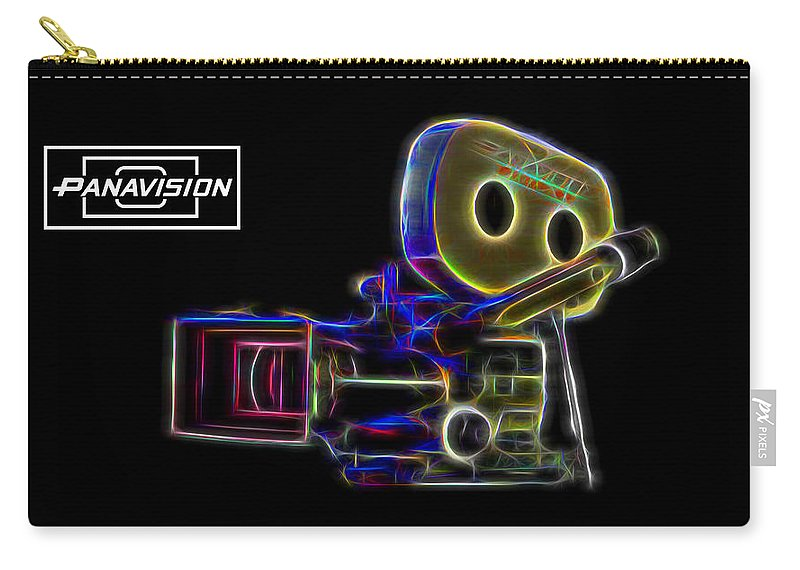 Panavision Carry-all Pouch featuring the digital art 35mm Panavision by Aaron Berg
