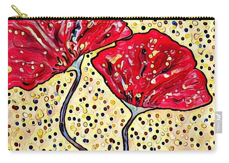 Carry-all Pouch featuring the digital art Poppy by Melinda Sullivan Image and Design