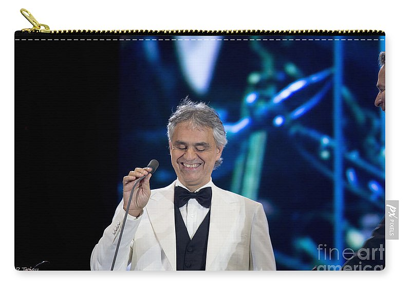 Celebrity Carry-all Pouch featuring the photograph Andrea Bocelli In Concert by Rene Triay Photography