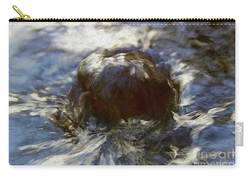 Walter Paul Bebirian Carry-all Pouch featuring the digital art 4-26-2017v by Walter Paul Bebirian