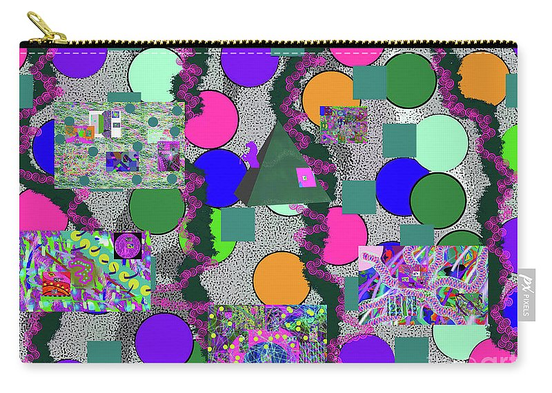 Walter Paul Bebirian Carry-all Pouch featuring the digital art 4-8-2015abcdefg by Walter Paul Bebirian