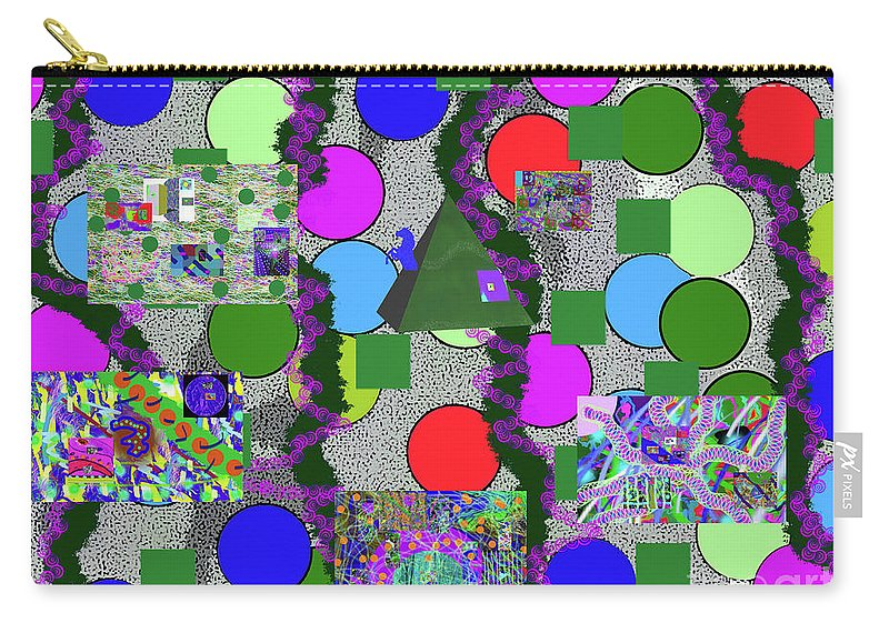 Walter Paul Bebirian Carry-all Pouch featuring the digital art 4-8-2015abcdefghijk by Walter Paul Bebirian