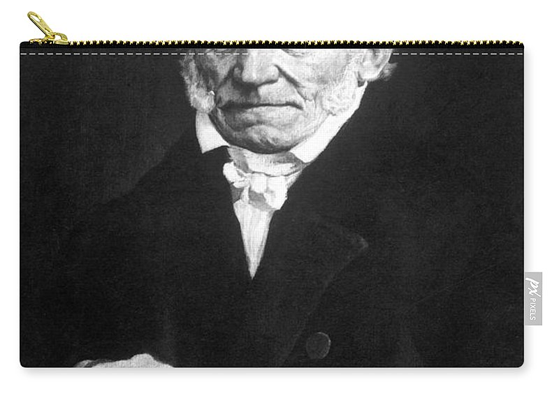 19th Century Carry-all Pouch featuring the photograph Arthur Schopenhauer by Granger