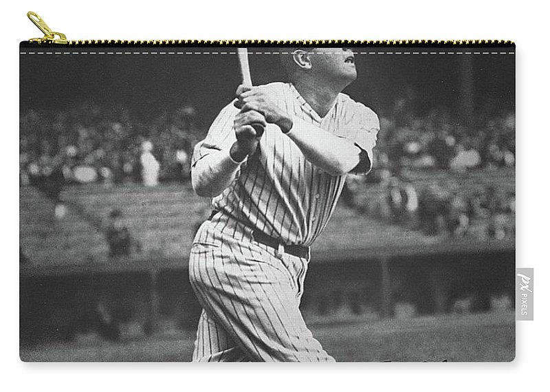 Babe Ruth Carry-all Pouch featuring the photograph Babe Ruth by American School