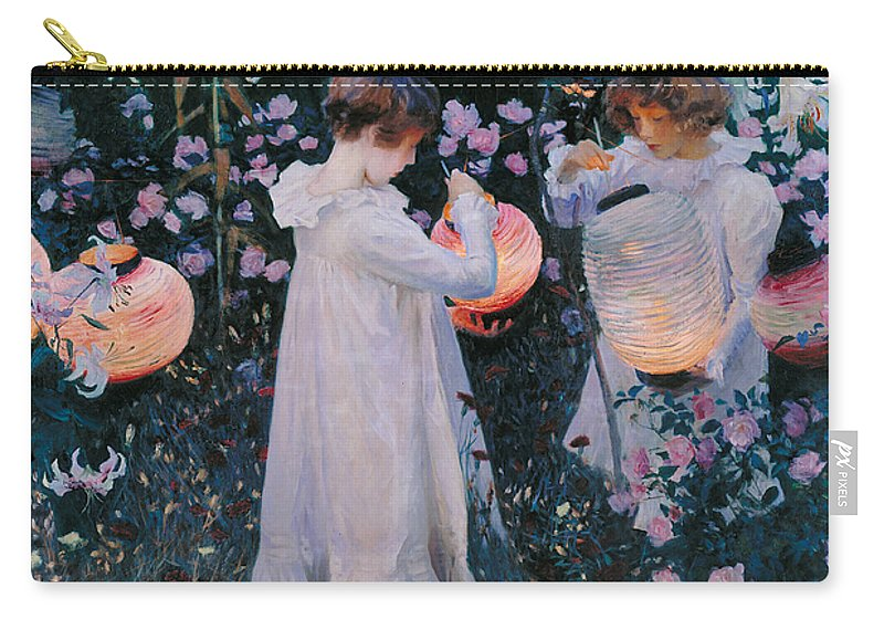 Sargent Carry-all Pouch featuring the painting Carnation Lily Lily Rose by John Singer Sargent