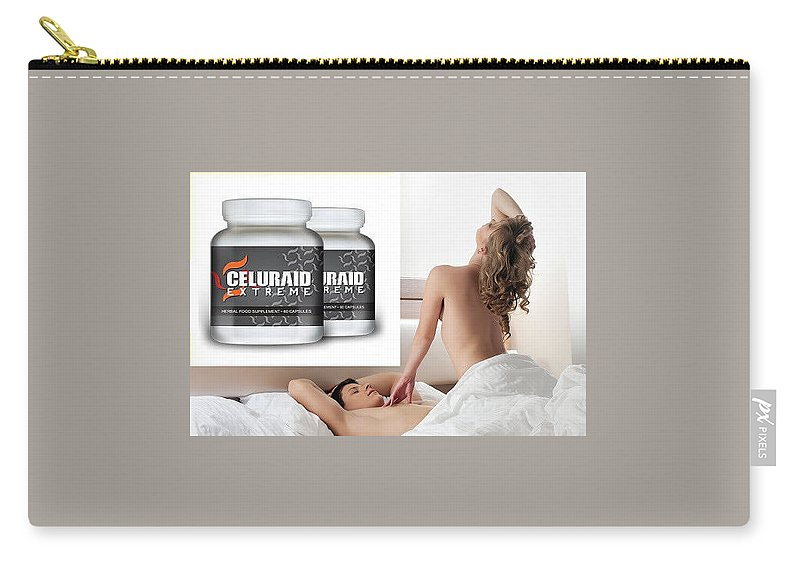 Celuraid Extreme Carry-all Pouch featuring the digital art Celuraid Extreme by Celuraid Extreme