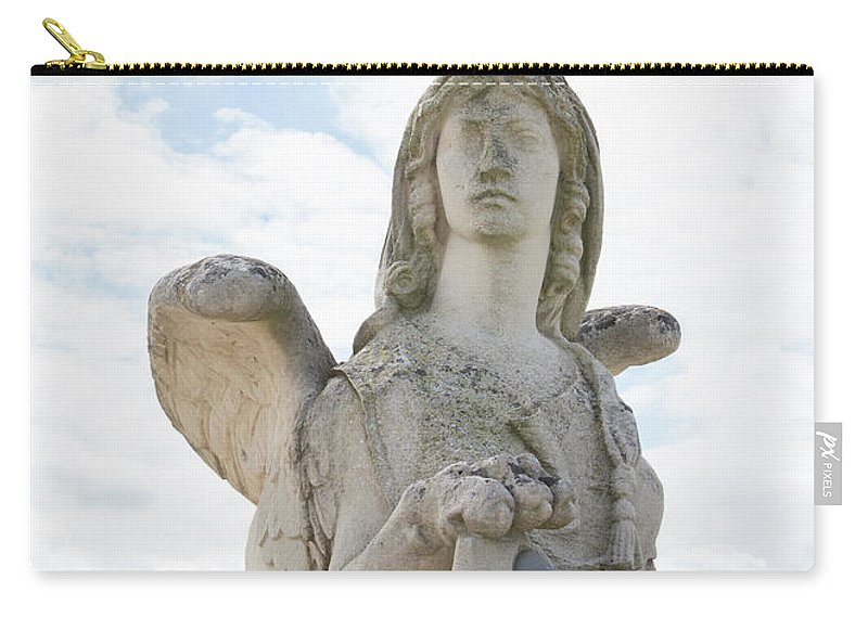 Castle Carry-all Pouch featuring the digital art Chantilly Castle Garden In France by Carol Ailles