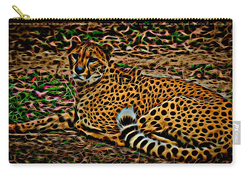 Cheeta Carry-all Pouch featuring the photograph Cheeta by David Pine