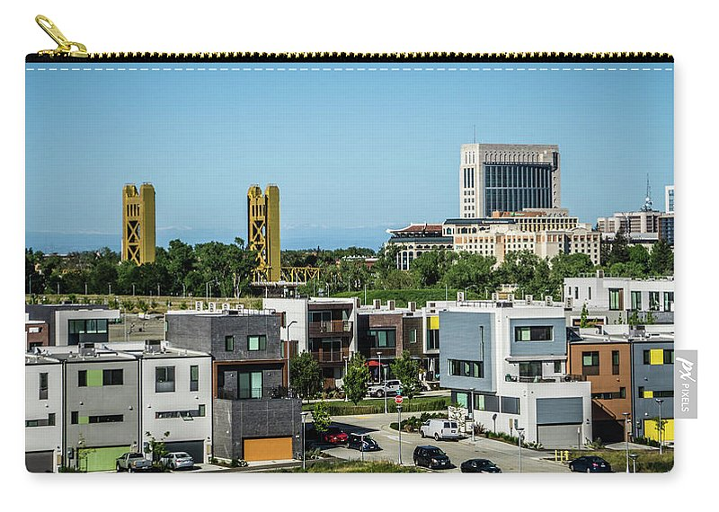 Building Carry-all Pouch featuring the photograph City Views Around California State Capitol Building In Sacrament by Alex Grichenko
