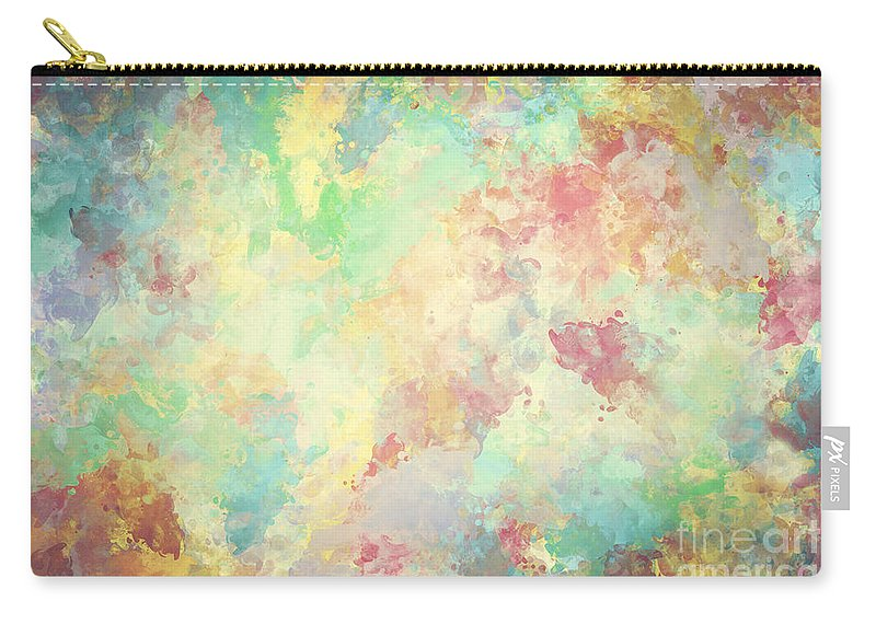 Watercolor Carry All Pouch Featuring The Photograph Colorful Paint On Canvas Super High