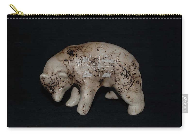 Four Corners Carry-all Pouch featuring the photograph 4 Corners Bear by Rob Hans
