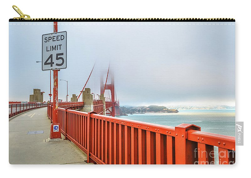 Golden Gate Bridge Carry-all Pouch featuring the photograph Golden Gate Bridge by Benny Marty
