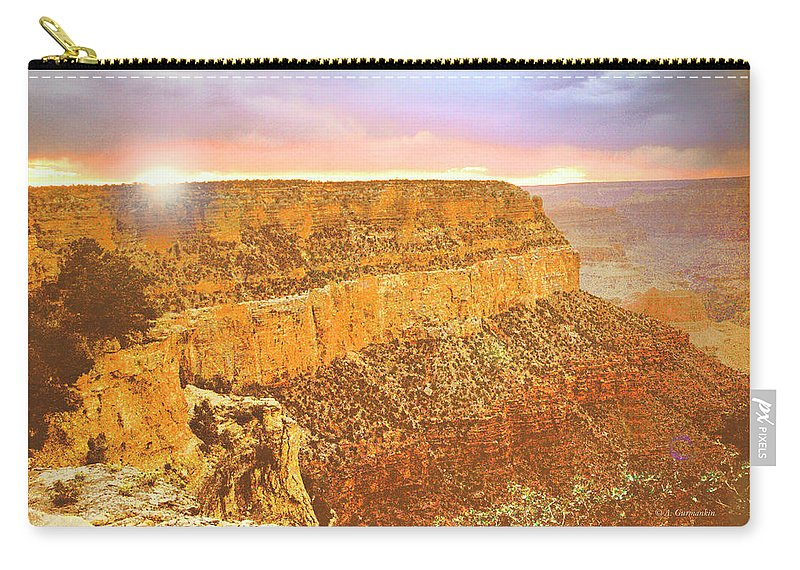Grand Canyon Carry-all Pouch featuring the photograph Grand Canyon Sunset by A Gurmankin