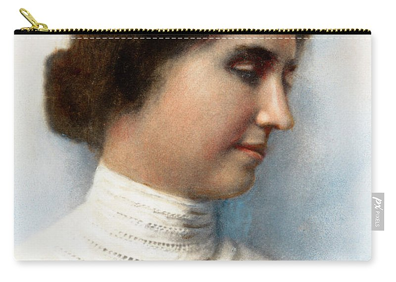 1905 Carry-all Pouch featuring the drawing Helen Keller, 1880-1968 by Granger