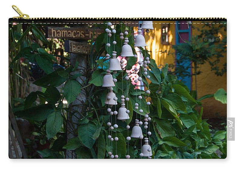 Mexico Yucatan Carry-all Pouch featuring the digital art Hostal Candelaria by Carol Ailles