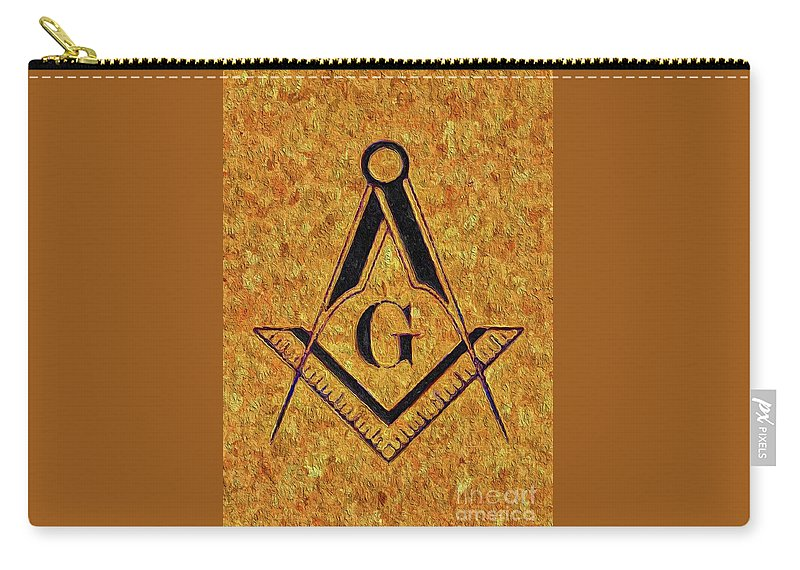 Symbol Carry-all Pouch featuring the painting Masonic Symbolism by Esoterica Art Agency