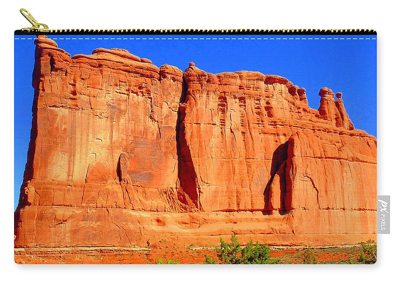 Moab Carry-all Pouch featuring the photograph Moab Landscape by Sarah Black