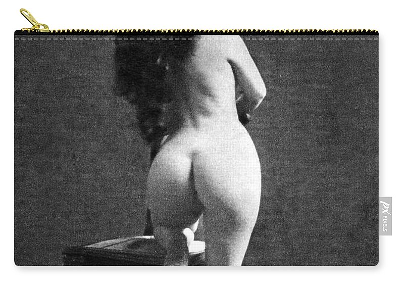 Carry-all Pouch featuring the painting Nude Posing: Rear View by Granger